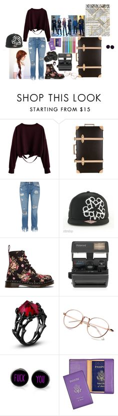 """""""Trip With Besties~Rebel O'Malley"""" by the-real-river-song ❤ liked on Polyvore featuring Globe-Trotter, 3x1, Dr. Martens, Impossible and Royce Leather"""