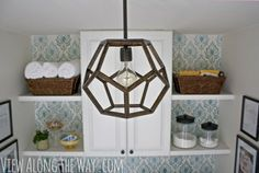 Shine Bright! 10 DIY Lights   Lamps.  DIY Dodecahedron Pendant  This DIY dodecahedron pendant is one of the coolest things I've seen in a long time. I'd love it in our kitchen or an entryway! You can make your own with wood you can purchase at any hardware store. Get the how-to at View Along the Way