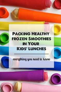 The post tells you exactly how to pack healthy smoothies in your kids' lunches without making a mess. Love this idea!: The post tells you exactly how to pack healthy smoothies in your kids' lunches without making a mess. Love this idea!
