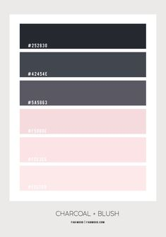 blush and charcoal color combos, blush and charcoal color schemes, color combos, color schemes, blush and black color Paint Color Schemes, Bedroom Color Schemes, Bedroom Colors, Paint Colors, Paint Color Pallets, Behr, Colour Board, Charcoal Color, Blush Color