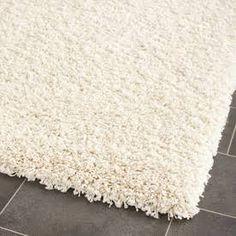 White Fuzzy bath mat - Google Search