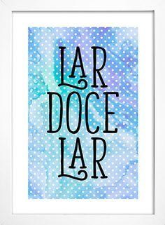 Poster Lar Doce Lar - loja online