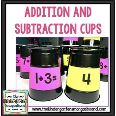 This blog post shows you how to make addition and subtraction cups to bring STEM into your math time with a fun stacking activity!