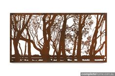 The Murray window from ENTANGLEMENTS has a beautiful laser-cut design that is complemented by its natural rust finish. Description from completehome.com.au. I searched for this on bing.com/images