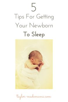 5 tips that got my newborn sleeping through the night at only 6 weeks old!