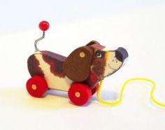 DOG Pull Toy Dollhouse Miniature KIT