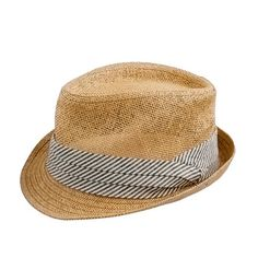 Straw chambray trilby hat from J Crew