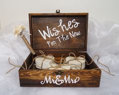 Hey, I found this really awesome Etsy listing at https://www.etsy.com/listing/196543814/wishes-for-the-new-mr-mrs-wood-guest