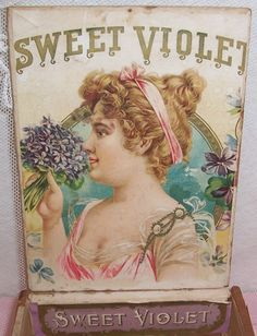 vintage perfume label images | ANTIQUE Sweet Violet Perfume/Toilet Water Store by vintageflowers
