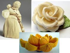 artesanías de cáscara de maíz