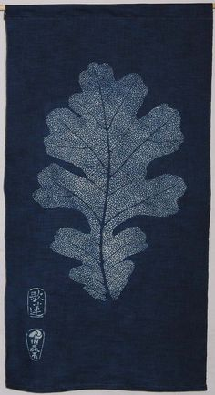 "As there are about 200 pins on this board I am continuing these themes on a new board, ""Enchanting Delights"" Katazome Indigo . White Oak Leaf   Nautilus Fiberarts. Karen illman miller."