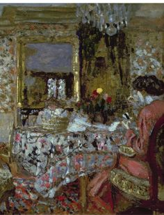 ⊰ Posing with Posies ⊱ paintings & illustrations of women & children with flowers - Edouard Vuillard
