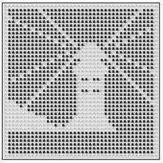 Free Filet Crochet Charts   Printing Page For Light Beams Lighthouse Free Filet Crochet Chart