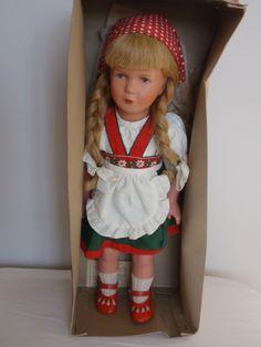 Vintage Germany Kathe Kruse Doll Swivel Head Pretty Face Original Box Dress   eBay