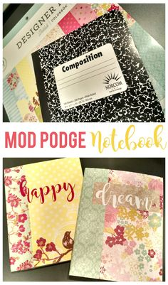 A quick, easy and cute way to update a boring composition notebook!