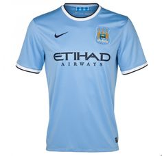 Manchester City, Home Kit 2013-14 Season. Premier League Champions with this Jersey.