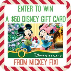 The Mickey Fix Holiday Giveaway: Win a $50 #Disney Gift Card!