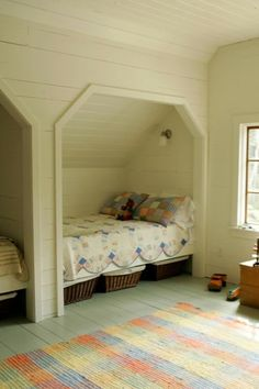 i think bed alcoves are great, reminds me of my bedroom loft at our cabin except some memories of banging my head!