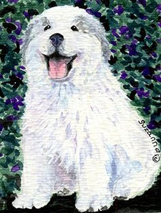 Outdoor Décor-Carolines Treasures SS8856CHF Great Pyrenees Flag Canvas Large Multicolor * Click image for more details.