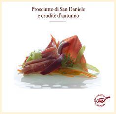Prosciutto di #SanDaniele e cruditè d'autunno. http://bit.ly/1h9N7tj