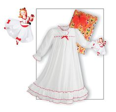 Shop Clara Nutcracker White Nightgown set with Clara holding the Nutcracker for your young Ballerina to wear to the Nutcracker Ballet made exclusively for The Wooden Soldier 2 Girl, Girls 4, Christmas Nightgowns, White Nightgown, Ballet Clothes, Winter Sale, Night Gown, Cool Style, Kids Outfits