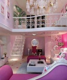 I'm also loving this two story room