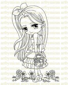 Digital Primavera sello felicidad Digi Stamp página por artbymiran