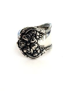 Antique Silver Spoon Ring - Circa 1908
