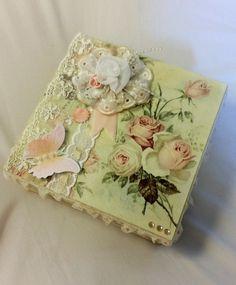 caixa decorada Shabby Chic