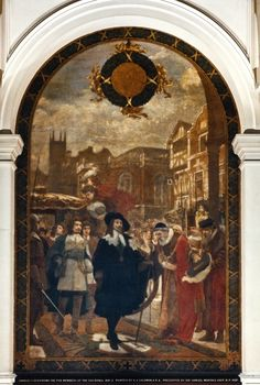 21. Charles I demanding the five members at the Guildhall 1641-42 Great Fire Of London, The Great Fire, King John, King George, Tower Of London, London City, Frederick Leighton, Edward Iv, Alfred The Great