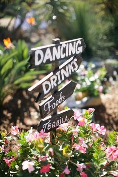 DIY wedding sign.  I think this is really cute given that your whole wedding will be at the same location and sort of in the woods :)