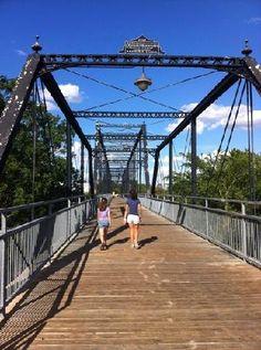 Faust Street bridge in nearby New Braunfels.  http://www.billiardfactory.com