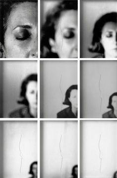 """ Helena Almeida, Sente me, 1979, screenshots via Film von Sylvain Bergère, """