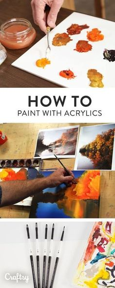 Everything You Need to Know to Start Acrylic Painting Down to the Last Bristle Acrylic paint is a versatile and vibrant medium with which you can create paintings of any style Learn how to use acrylic paint in your artwork with these professional tips Acrylic Painting For Beginners, Acrylic Painting Techniques, Beginner Painting, Art Techniques, Decoupage Vintage, Acrylic Painting Tutorials, Acrylic Tips, Matte Painting, Painting Art
