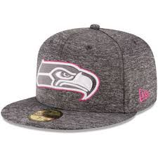 975d88a88 Men's Seattle Seahawks New Era Heather Gray 2016 Breast Cancer Awareness  Sideline 59FIFTY Fitted Hat Wholesale