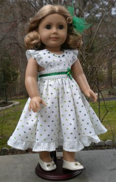 American Girl ...   How cute is this St. Patrick's dress?!