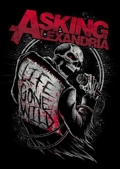 Asking Alexandria by Brandon Heart, via Behance