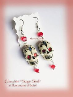 Polymer clay skulls. Day of the Dead, dia de Los muertos