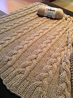 Braided Cable Throw Blanket  by Gena Shaffer