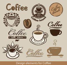 Delicate Coffee logos vector