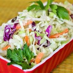 June 5, 2012    Lower-Fat Coleslaw. You can substitute fat free mayo and milk to make this even lighter!