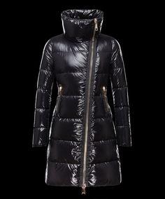 Prix de Manteau Moncler JOINVILLE veste longue femme imperméable col noi  chine Goose Down Coats, 5310b8f9b277