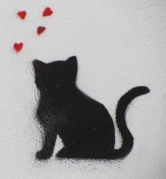 Cat stencils (graffiti). chat | Fragmentdetags