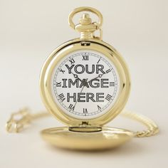 Custom Photo Insert personalized Pocket Watch - wedding cyo special idea weddings
