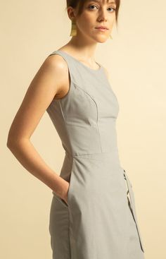 Made from 100 % recycled materials in Loksa, Estonia. Cute Dresses, Dresses For Work, Wrap Jumpsuit, Sustainable Fashion, High Neck Dress, Grey, Collection, Pretty Dresses, Turtleneck Dress