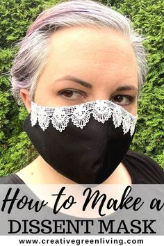 How to make a feminist Ruth Bader Ginsburg inspired face mask! This dissent mask craft is inspired by the late Nototious RBG and is an easy to make beginning sewing project. Learn how to make a DIY face mask by upgrading a plain black face mask you already own. #RBG #notoriousRBG #feministcrafts #dissentcollar #dissentmask