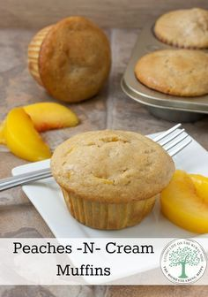 I love these Peaches -n- Cream muffins, especially on a cool fall morning, with a cup of hot tea. They are sweet and satisfying, while being creamy and peachy at the same time.~TheHomesteadingHippy