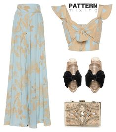 """Pattern Mixing"" by yours-styling-best-friend ❤ liked on Polyvore featuring TinyOm, Valentino, Miu Miu, Topshop, Johanna Ortiz and Forever Unique"