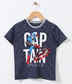 Camiseta infantil Manga curta Gola redonda Com estampa Marca: Avengers Tecido: Meia malha COLEÇÃO VERÃO 2017 Veja outras opções de produtos Avengers.