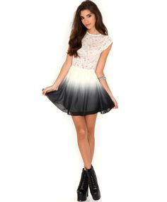 Dazia Lace Ombre Skater Dress- skater dress- missguided